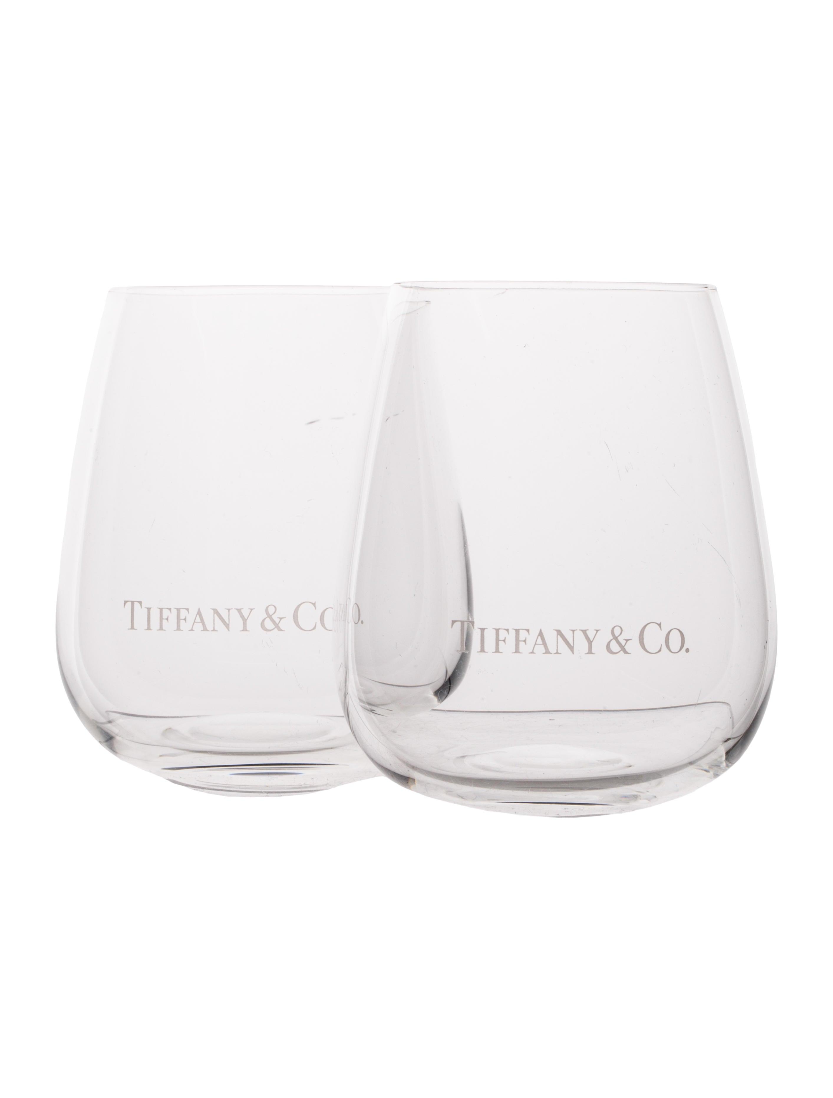 6e21fded506c Tiffany   Co. Stemless Wine Glasses - Tabletop   Kitchen - TIF30794 ...