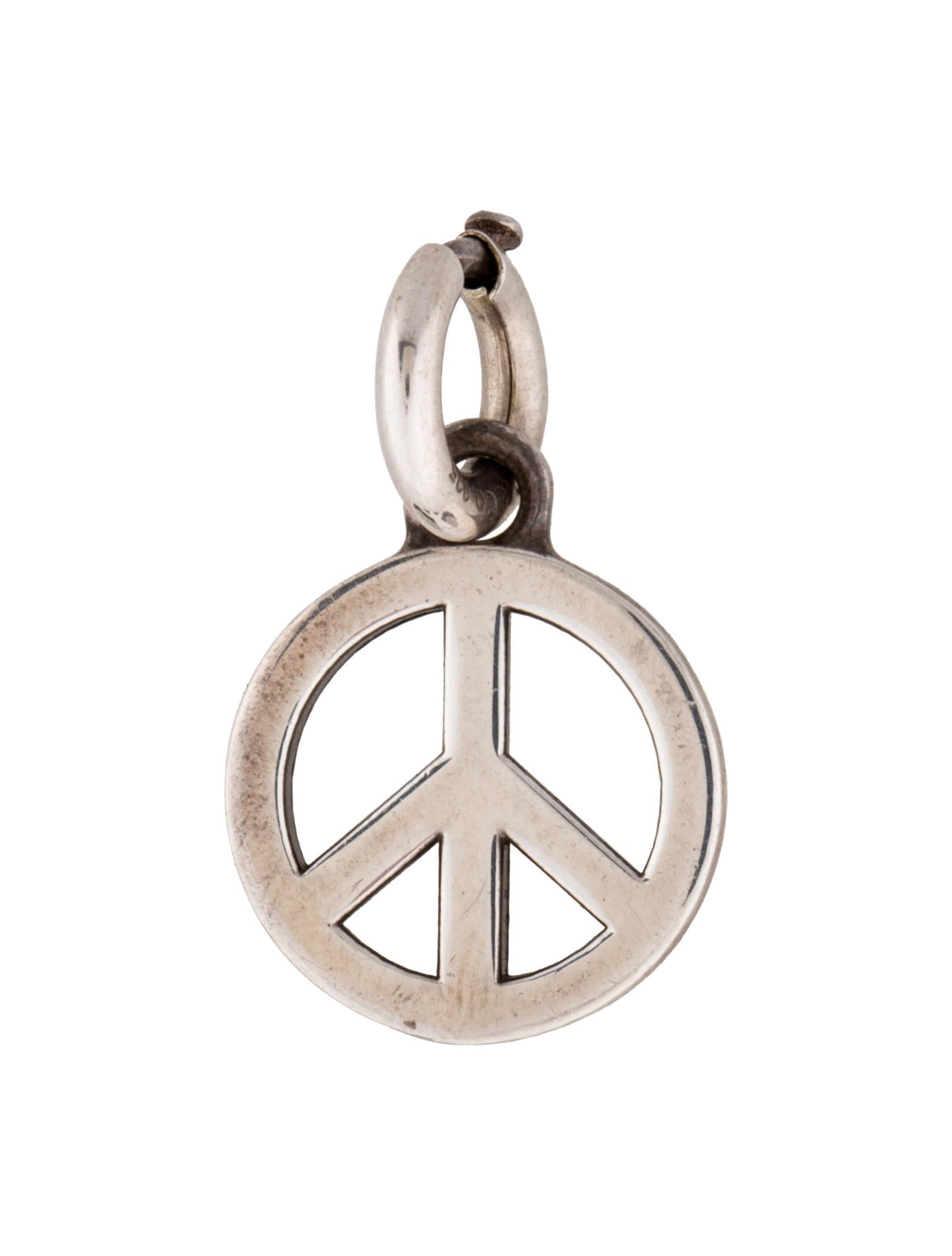 Tiffany co peace sign charm charms tif30965 the realreal peace sign charm buycottarizona Gallery