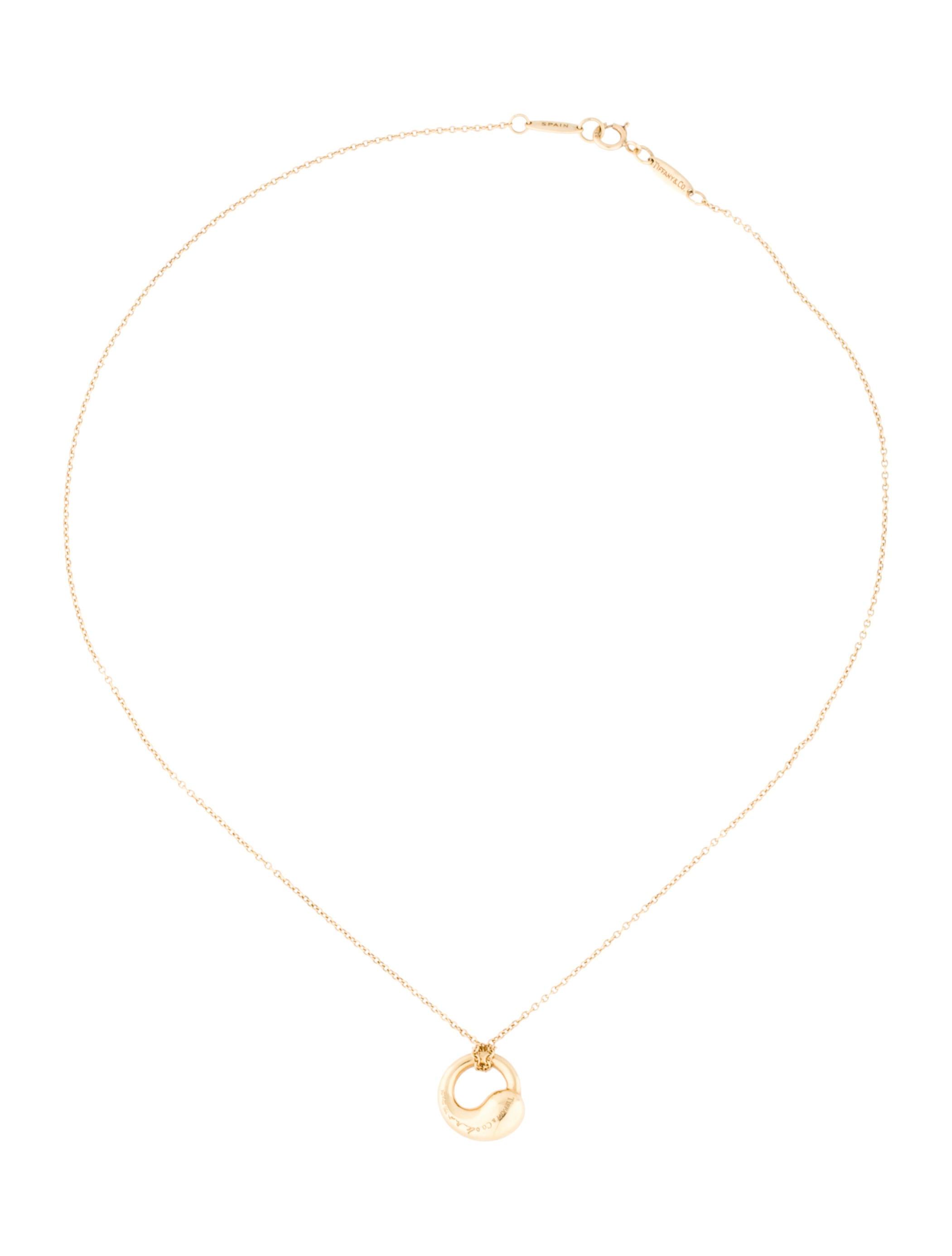 Tiffany co elsa peretti eternal circle pendant necklace elsa peretti eternal circle pendant necklace aloadofball Images