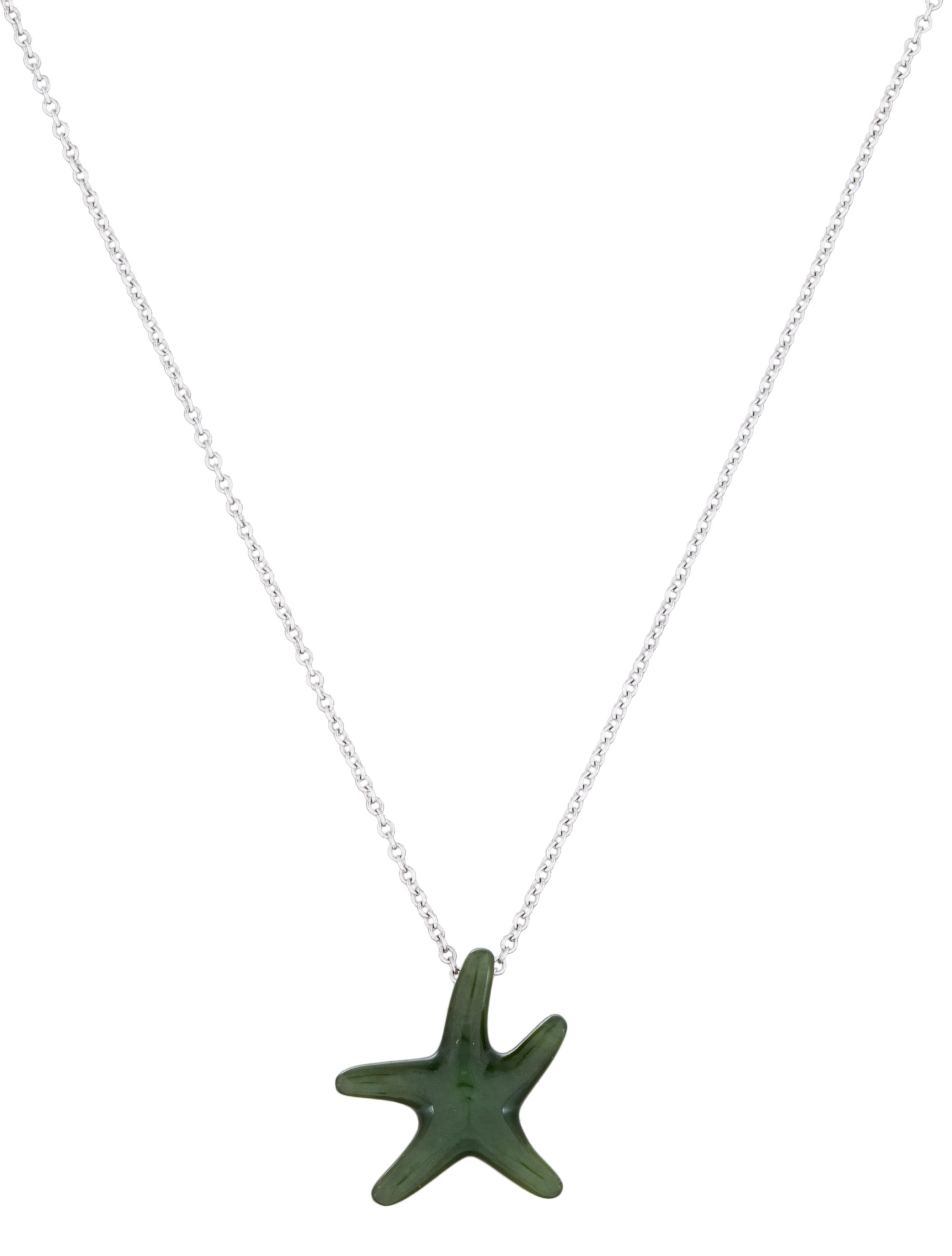 dfed4a385 Tiffany & Co. Jade Starfish Pendant Necklace - Necklaces - TIF31665 ...