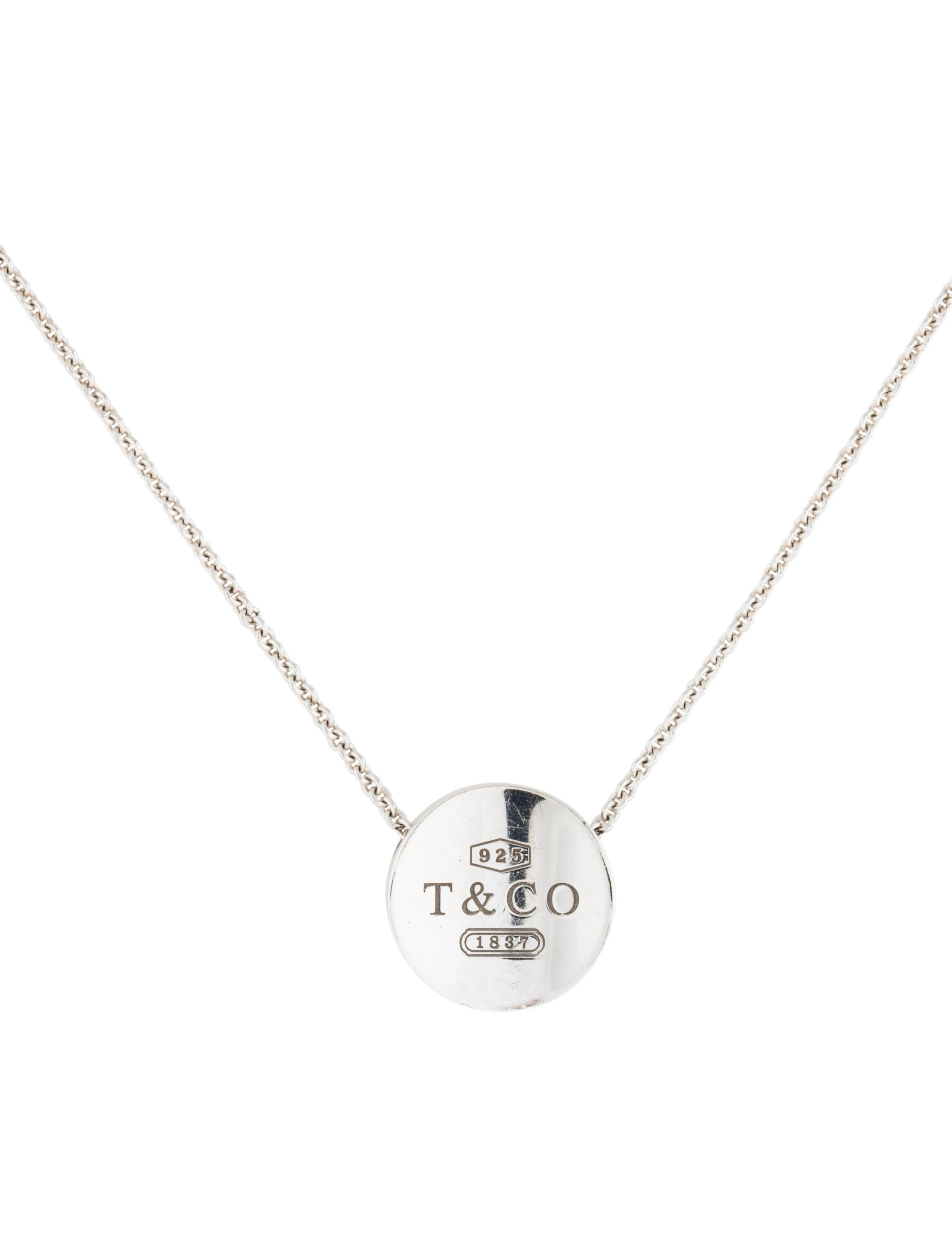 Tiffany co 1837 concave pendant necklace necklaces tif32683 1837 concave pendant necklace mozeypictures Gallery