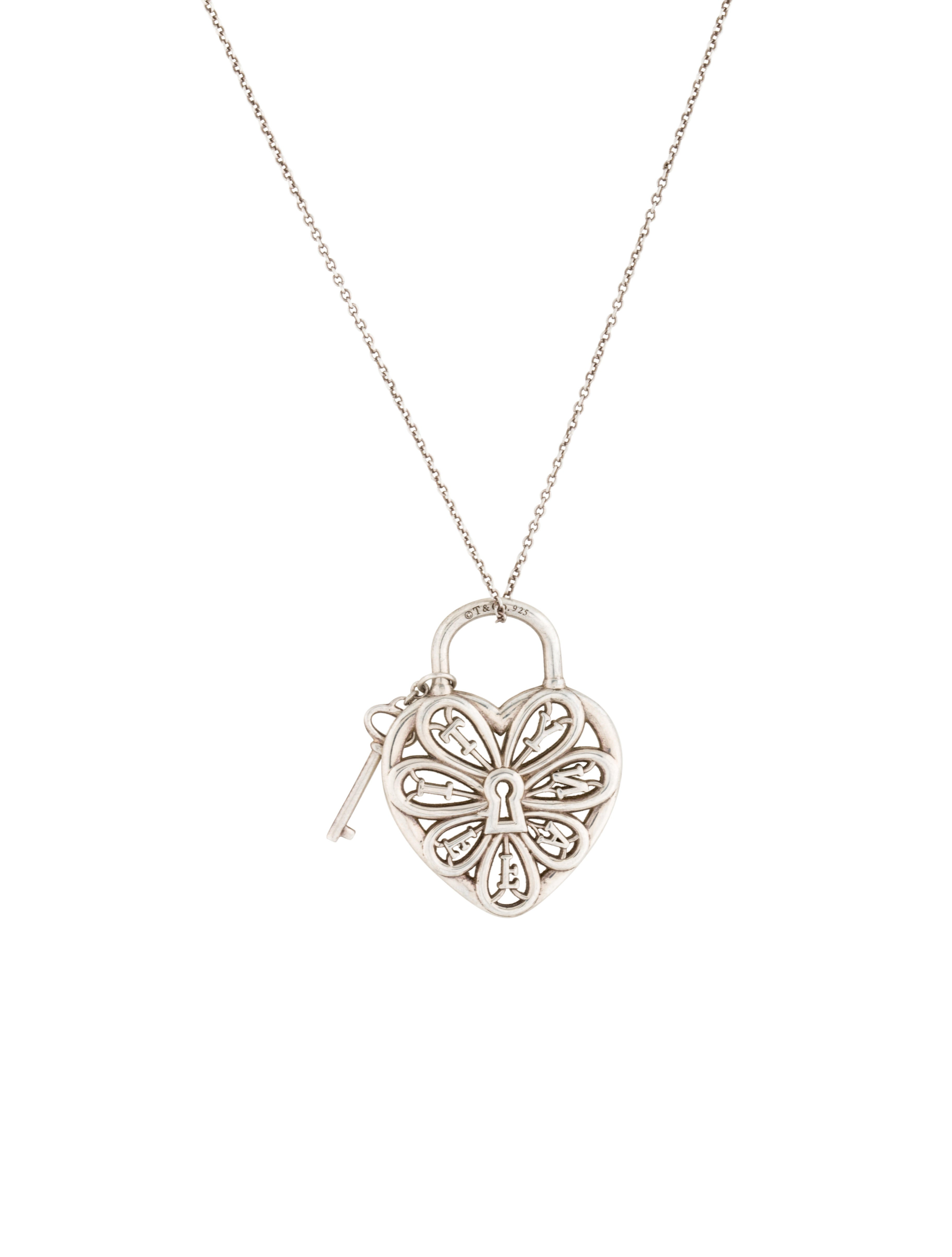 a277203591b2 Tiffany   Co. Filigree Heart Pendant with Key - Necklaces - TIF34158 ...