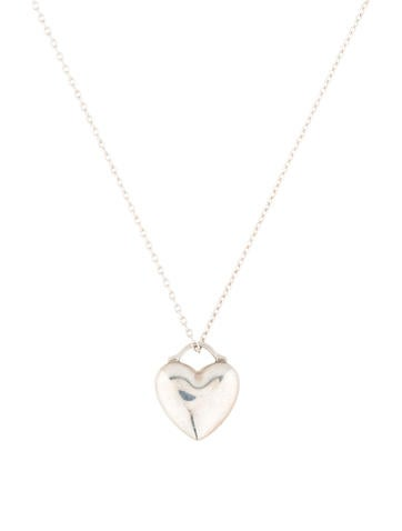 Small Puff Heart Pendant Necklace