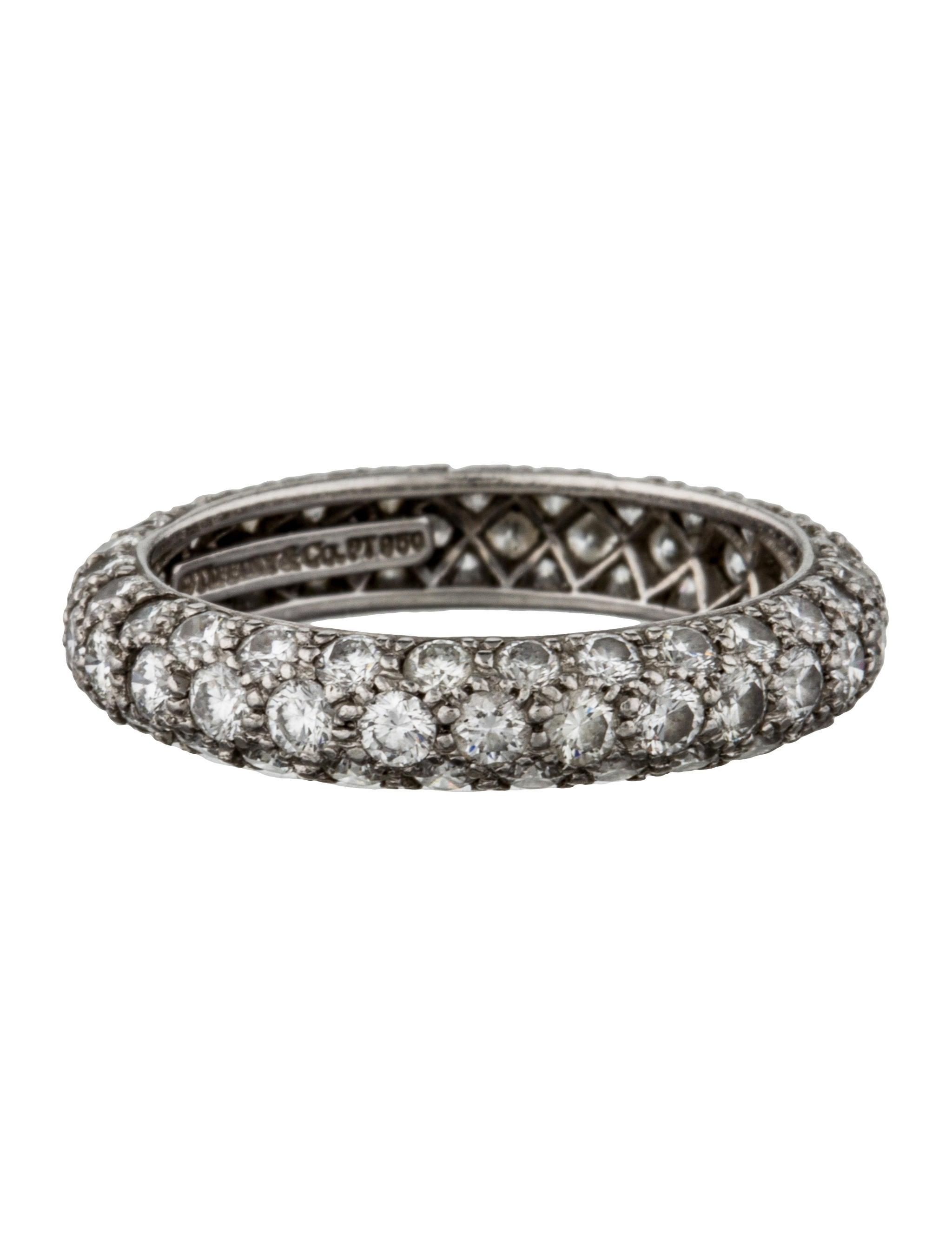 Tiffany Amp Co Etoile Three Row Band Rings Tif34577
