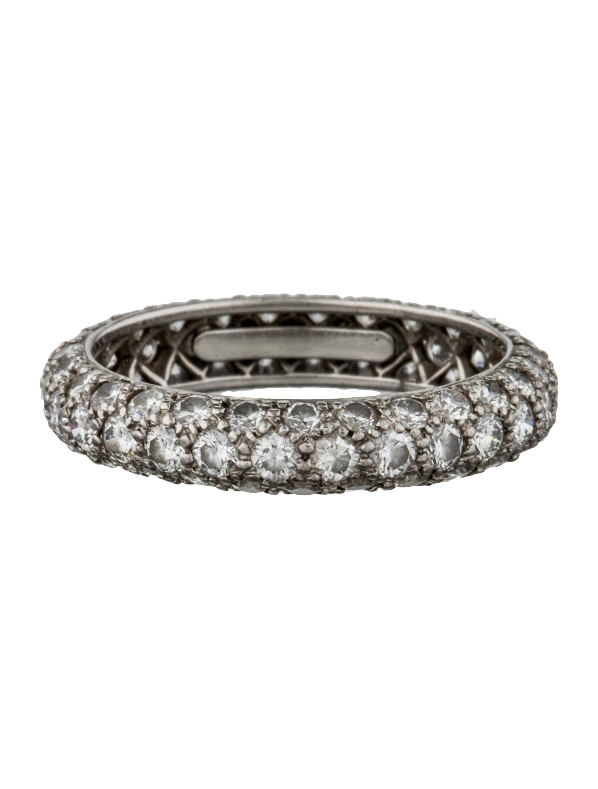 Tiffany Amp Co Etoile Three Row Band Rings Tif34577