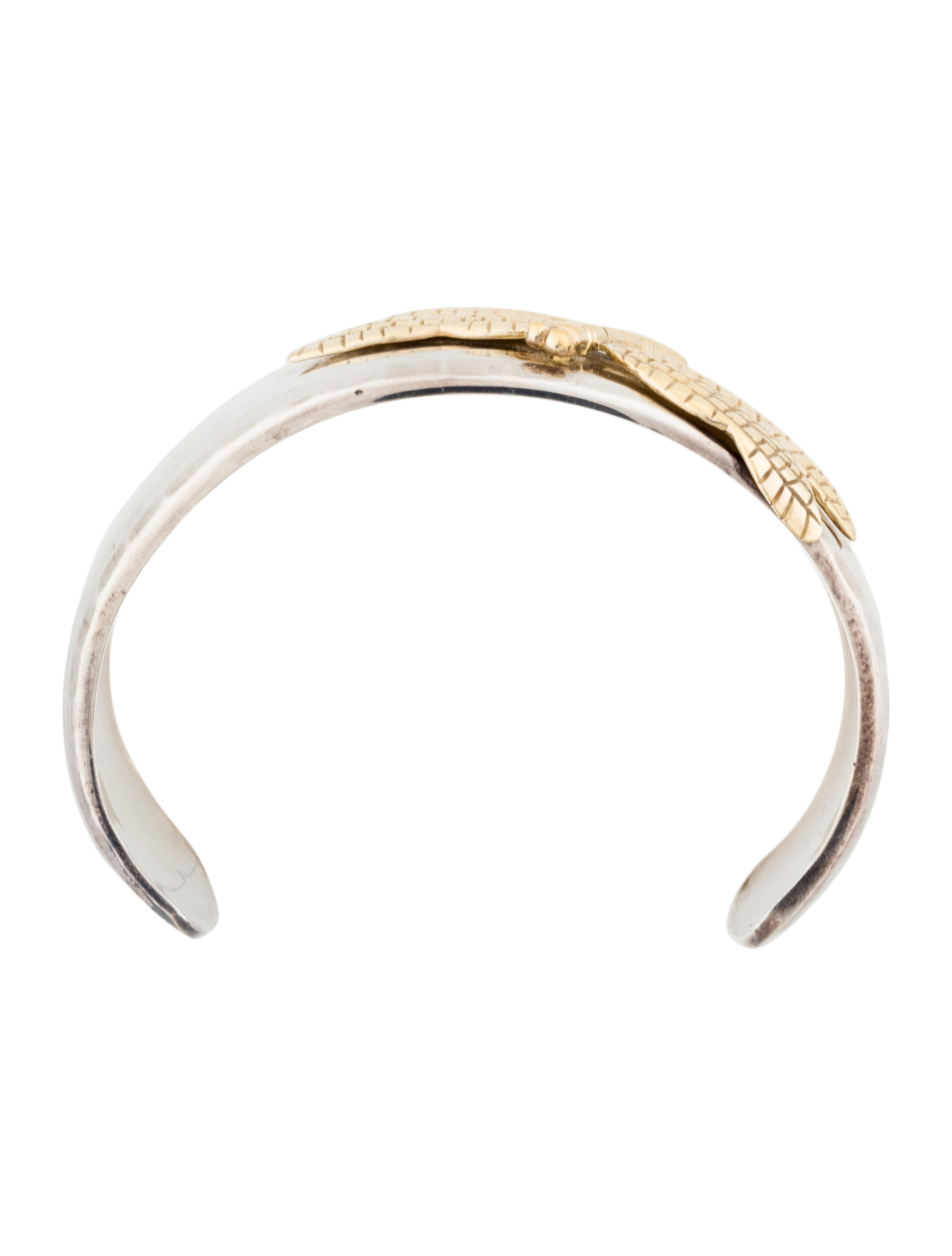 Tiffany Amp Co Two Tone Dragonfly Cuff Bracelet Bracelets