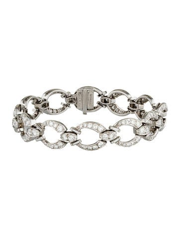 Tiffany & Co. Platinum Diamond Link Bracelet