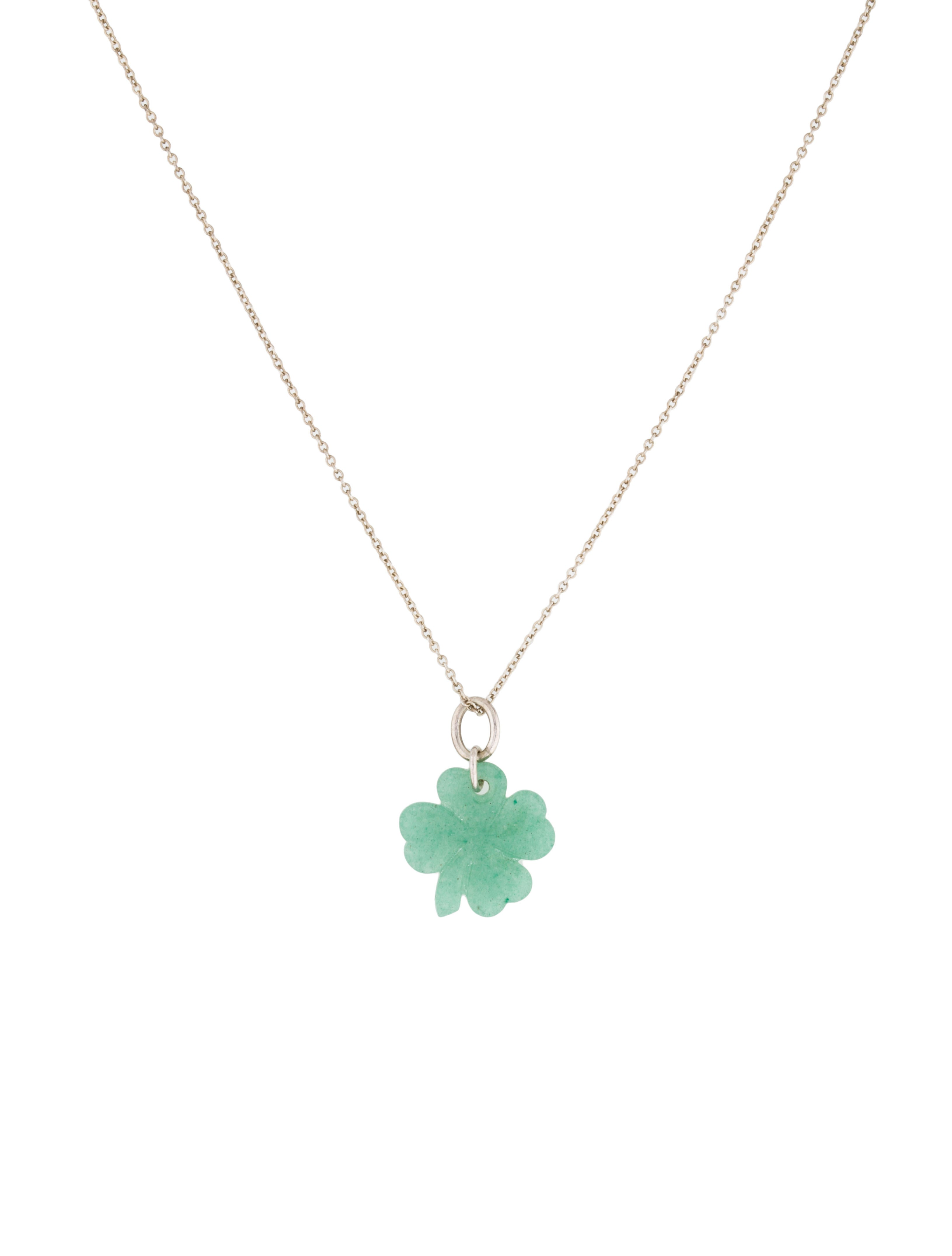 Tiffany co aventurine clover pendant necklace necklaces aventurine clover pendant necklace aloadofball Image collections