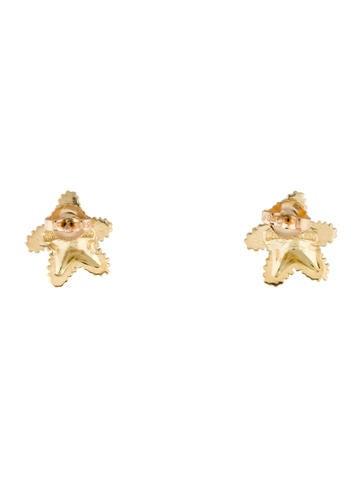18K Starfish Stud Earrings