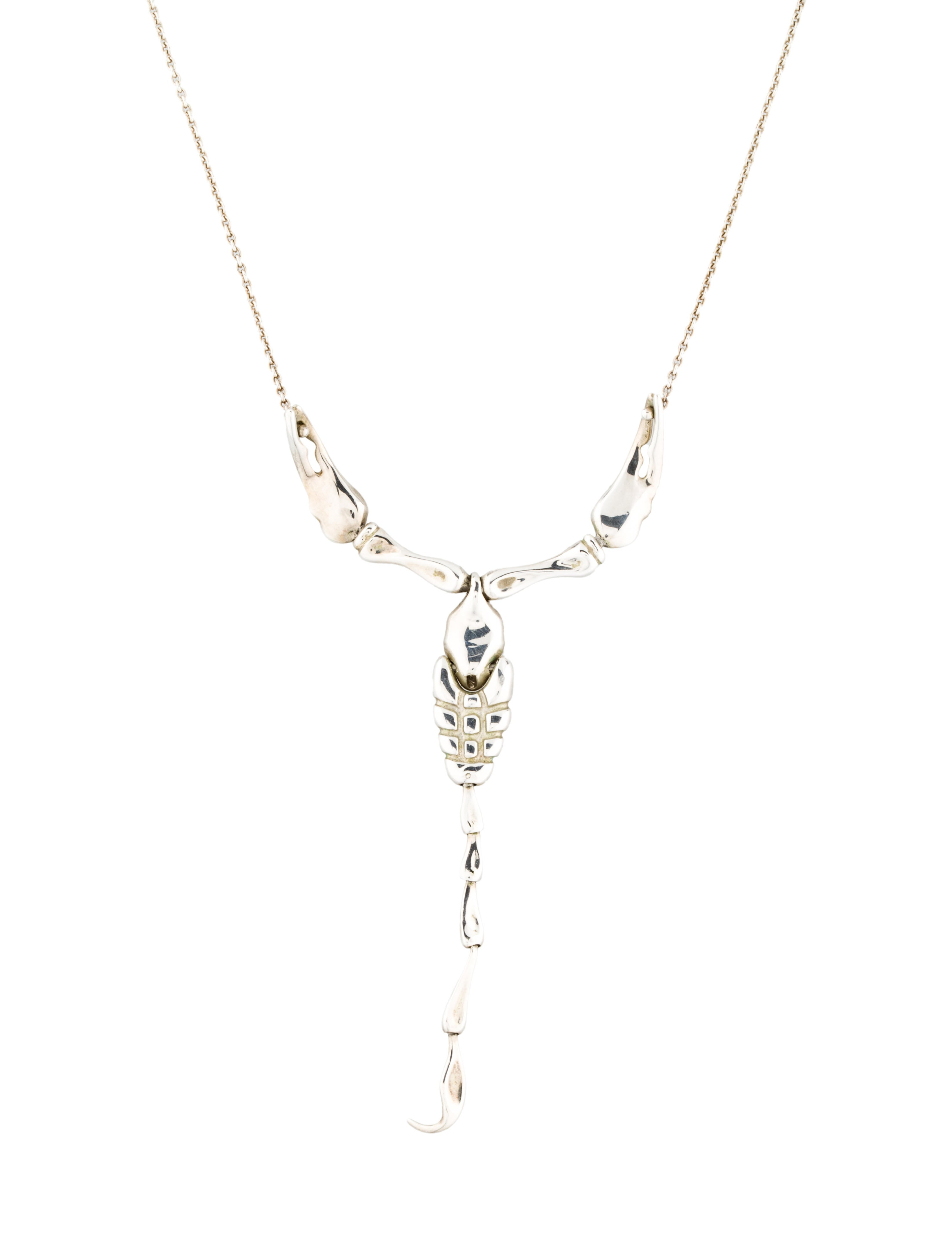 608910d0c818f Tiffany & Co. Scorpion Pendant Necklace - Necklaces - TIF37805 | The ...