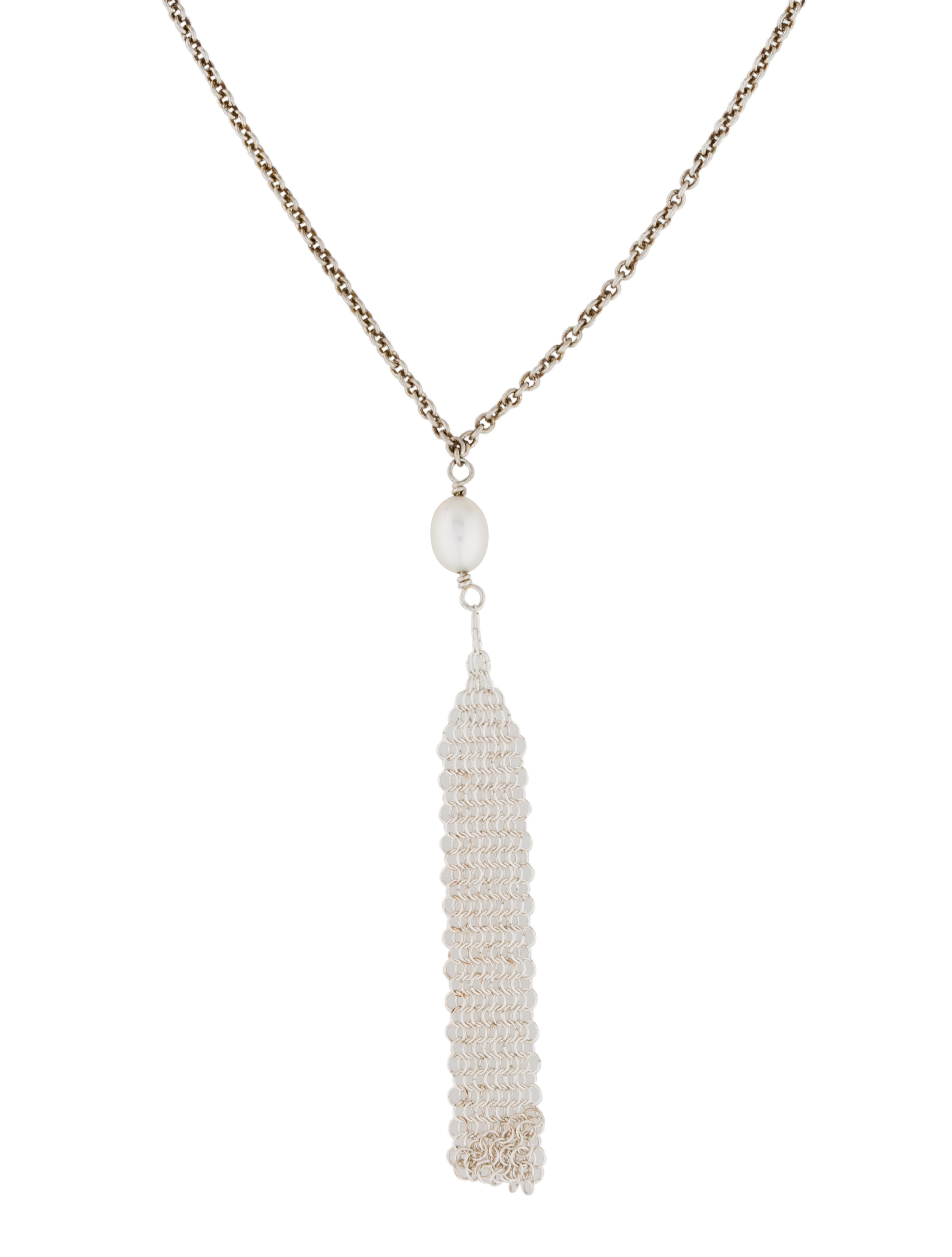29248587b Tiffany & Co. Mesh Tassel Pendant - Necklaces - TIF37878 | The RealReal