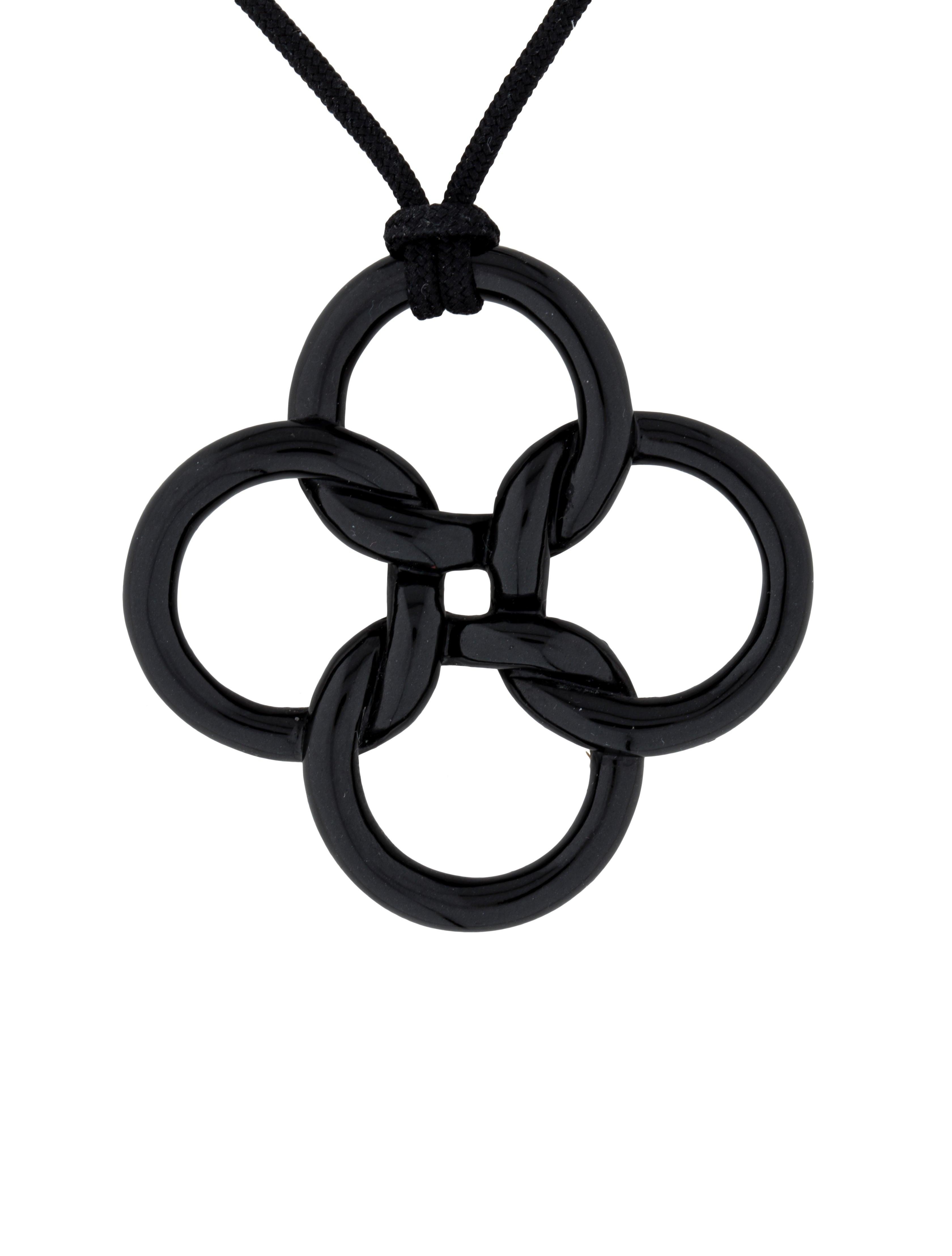 Tiffany co black jade quadrifoglio pendant necklace necklaces black jade quadrifoglio pendant necklace mozeypictures Gallery