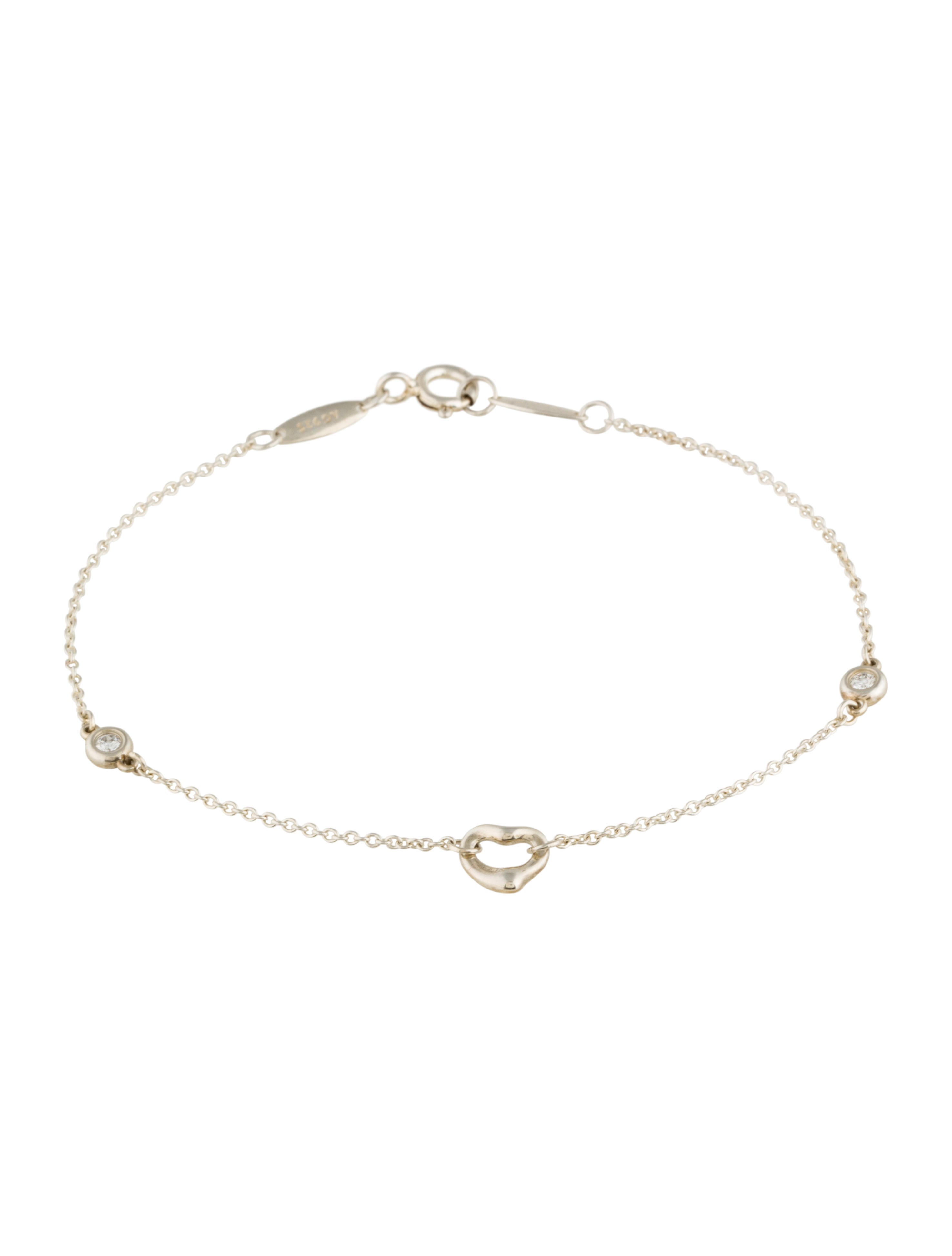 Tiffany co diamonds by the yard open heart bracelet for Diamonds by the yard ring