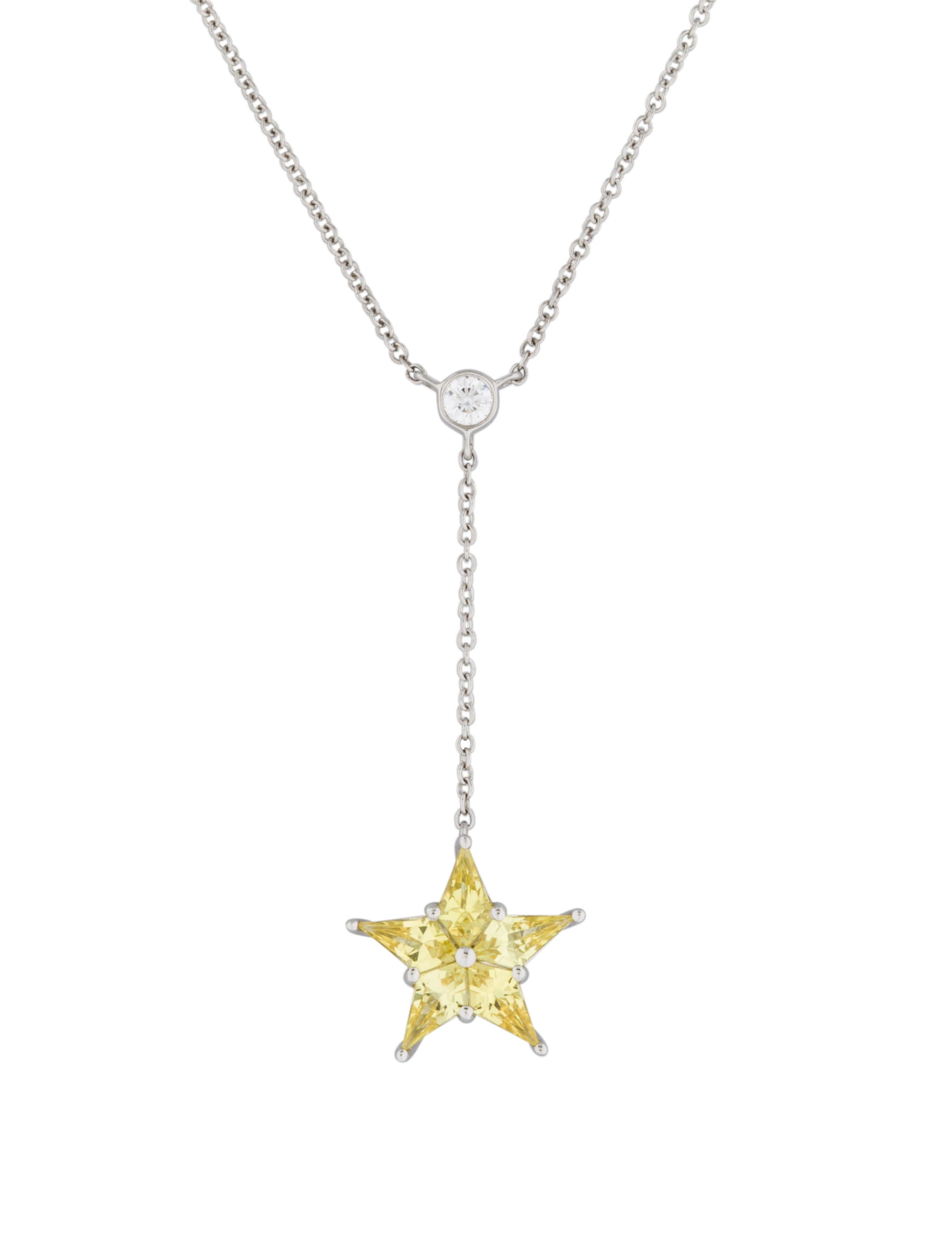 ae1c924c2 Tiffany & Co. Sapphire Star & Diamond Pendant Necklace - Necklaces ...