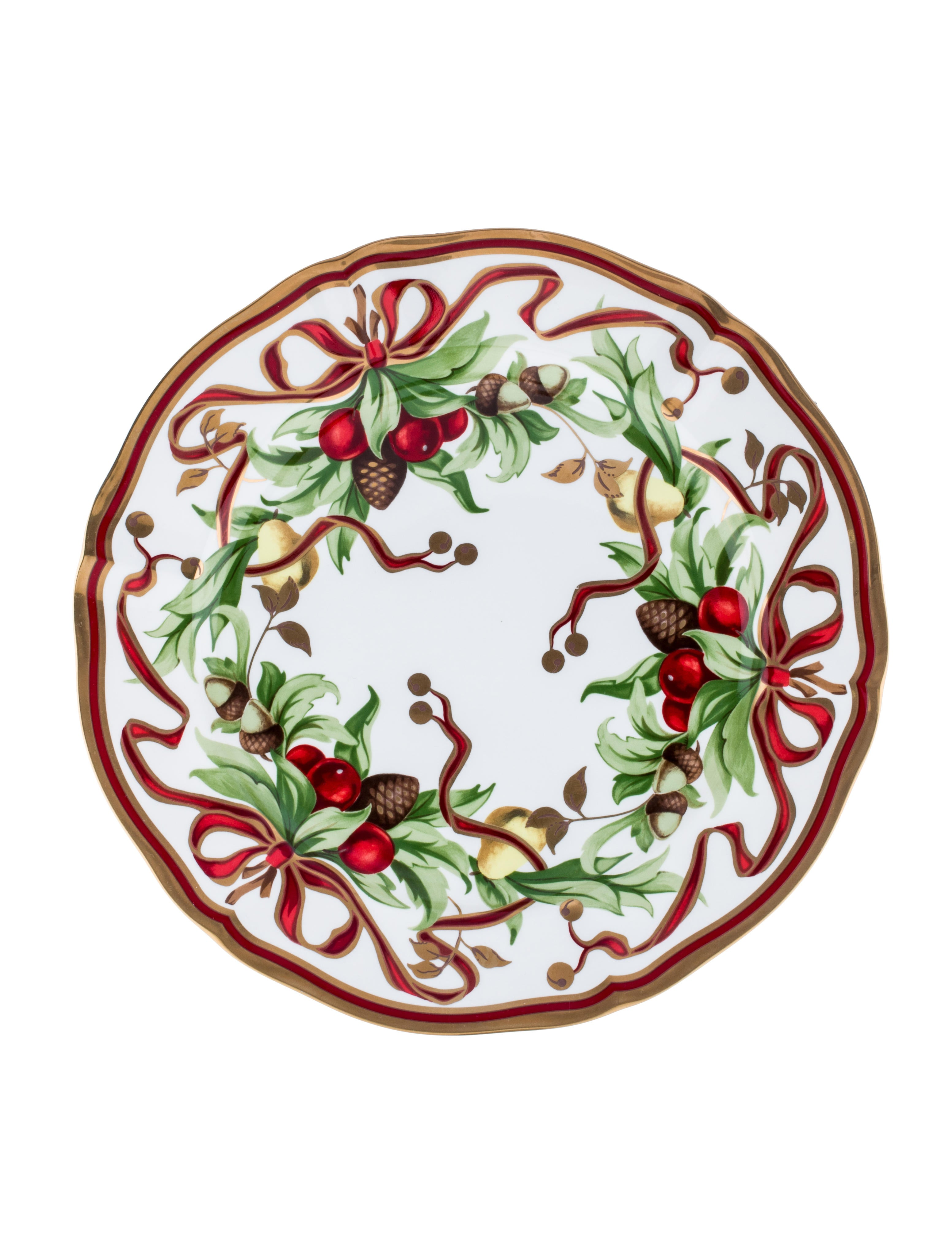Tiffany Holiday Dinner Plates  sc 1 st  The RealReal & Tiffany u0026 Co. Tiffany Holiday Dinner Plates - Tabletop And Kitchen ...