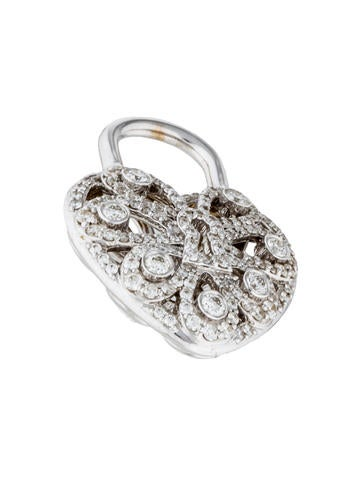 18K Diamond Tiffany Enchant Heart Lock