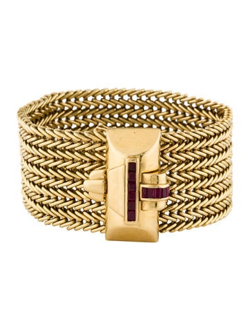 Tiffany & Co. Ruby Wide Wheat Chain Bracelet