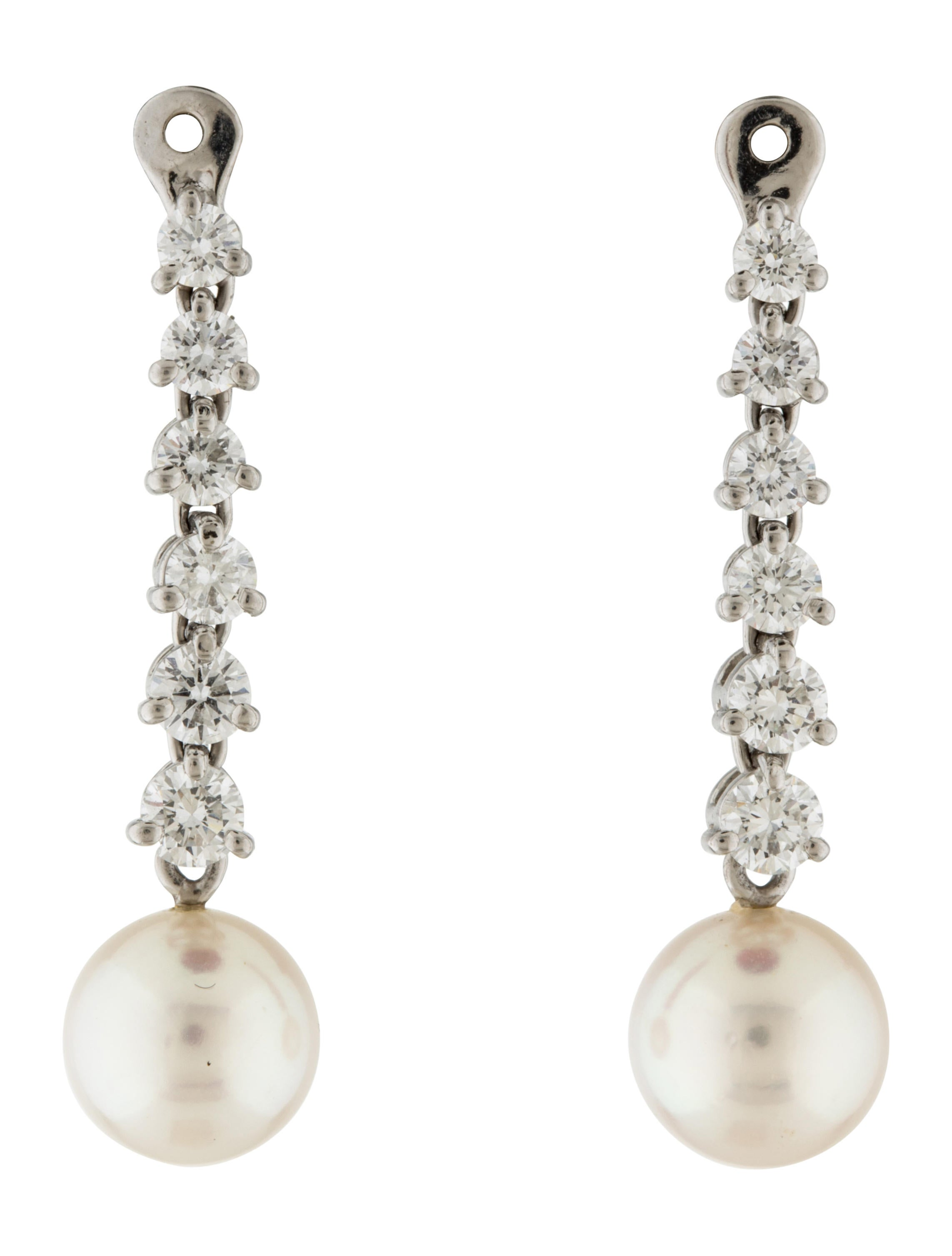 real modern akoya pearl diamond accents and earring earrings