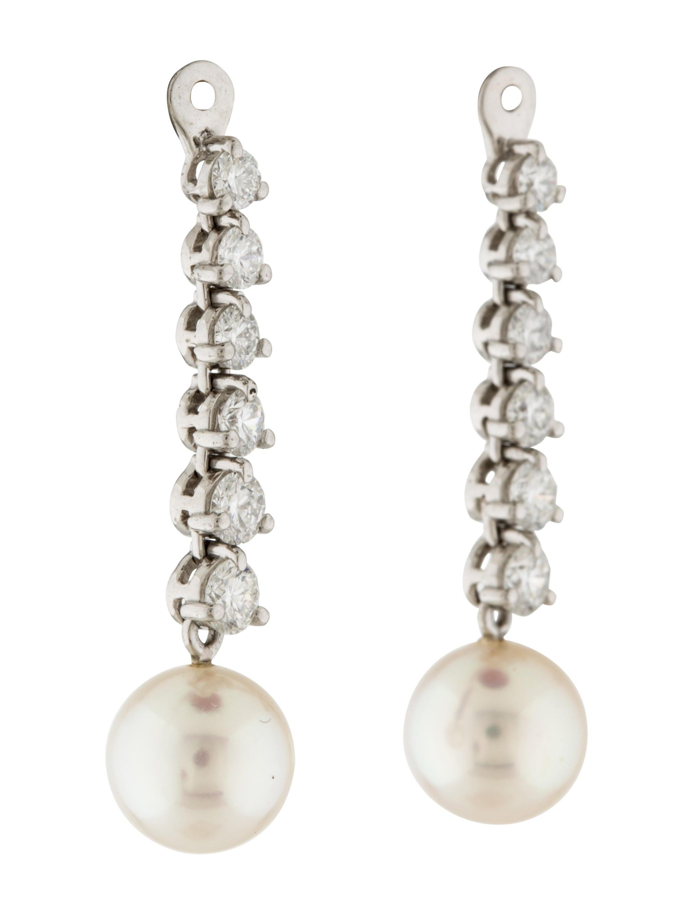 Pearl & Diamond Earring Jackets