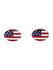 American Flag Cabochon Cufflinks