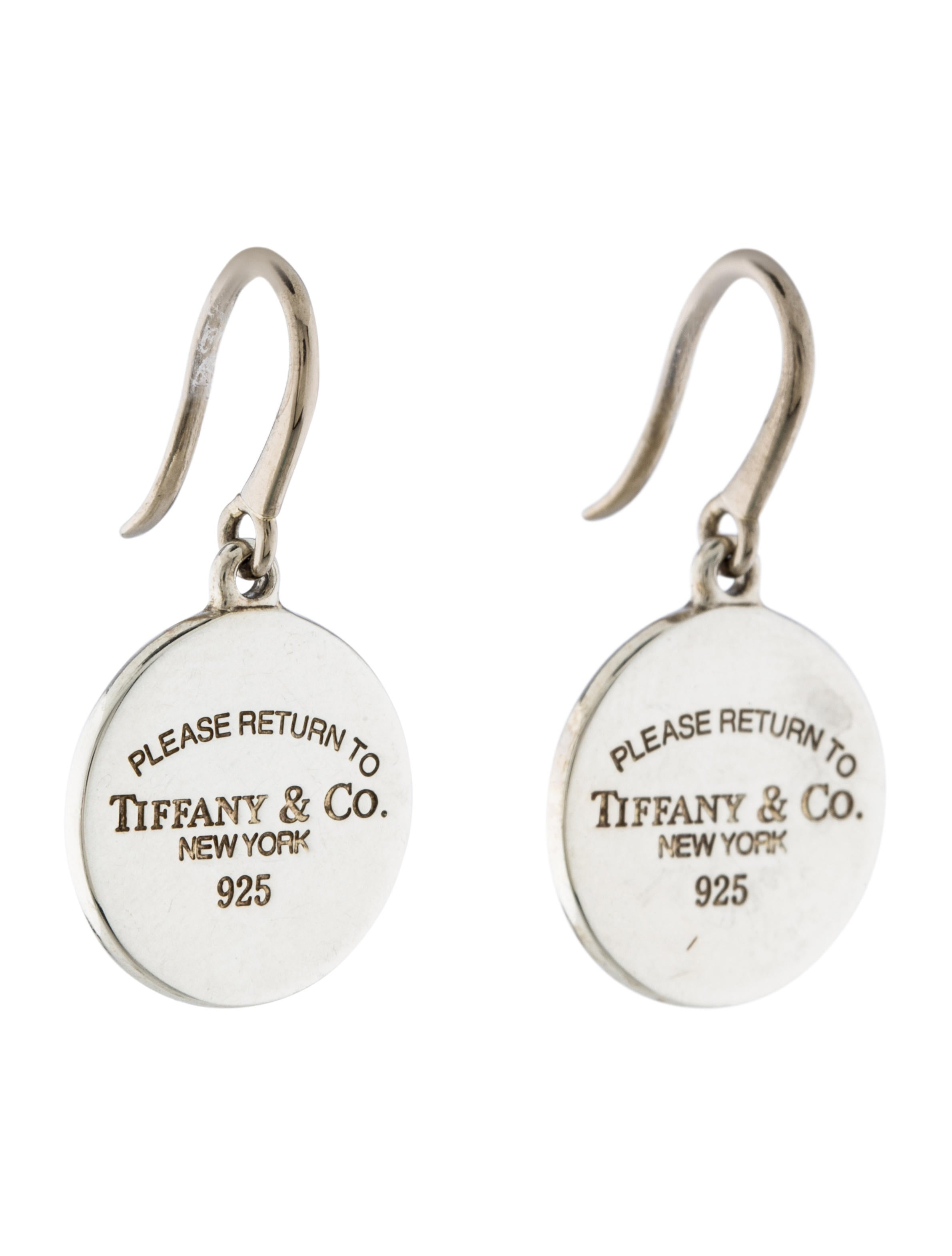 French Pillows Home Decor Tiffany Amp Co Round Tag Drop Earrings Earrings