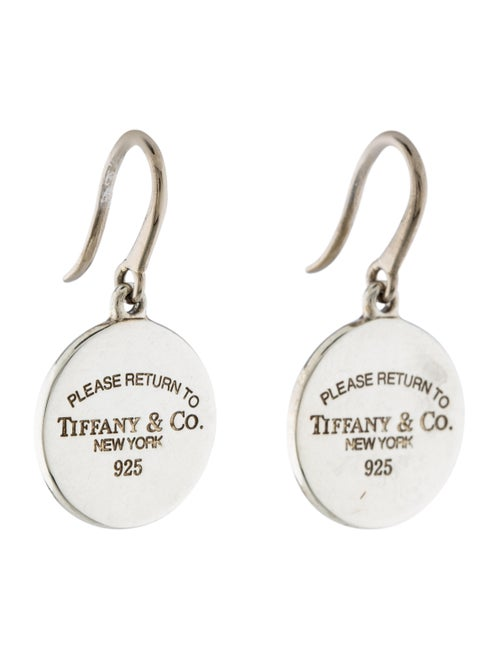 c8a2b5be08f4a Tiffany & Co. Round Tag Drop Earrings - Earrings - TIF43763   The ...