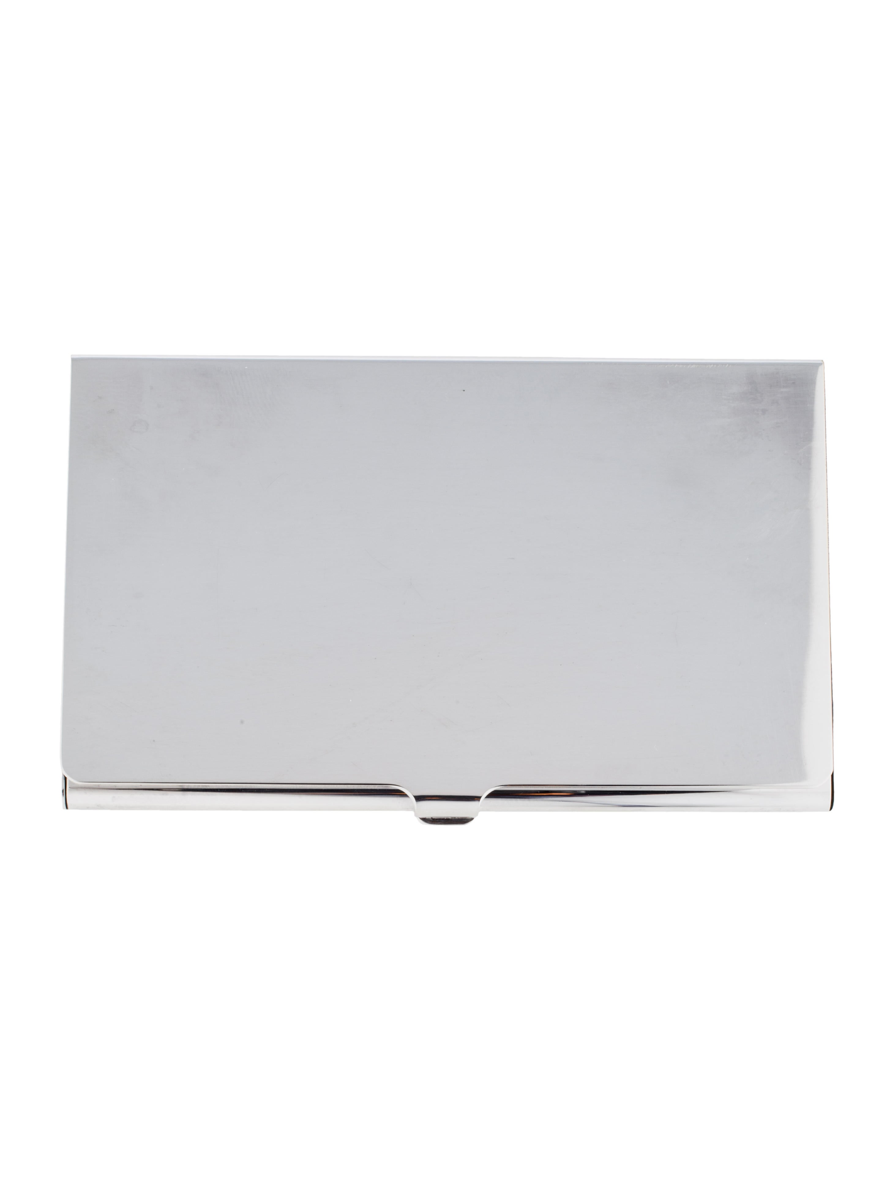 Tiffany & Co. Silver-Plate Business Card Holder - Decor And ...