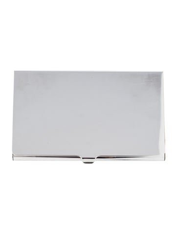 Tiffany co silver plate business card holder decor for Tiffany and co business card holder