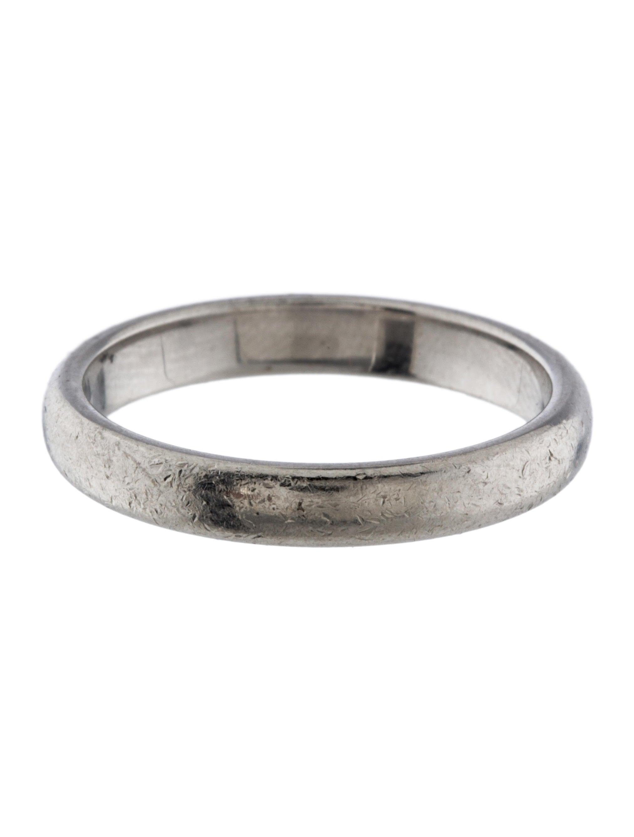 tiffany co 3mm platinum wedding band rings tif44406