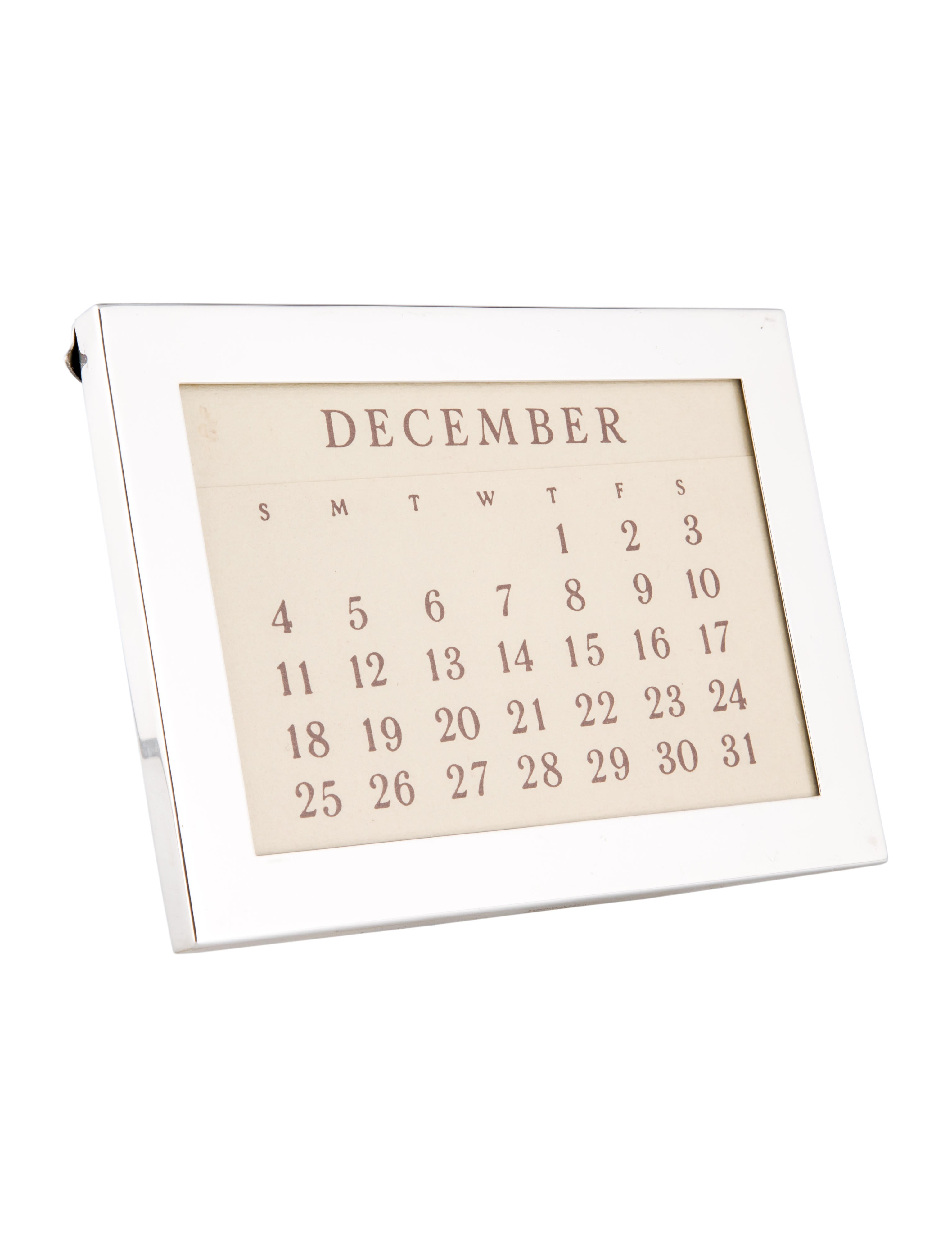 Tiffany co sterling silver perpetual calendar decor for Artistic accents genuine silver decoration