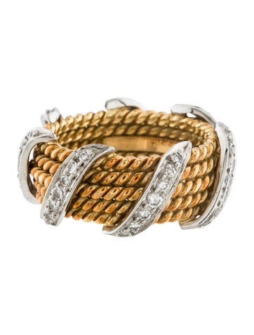 Tiffany & Co. Schlumberger Diamond Twist Ring