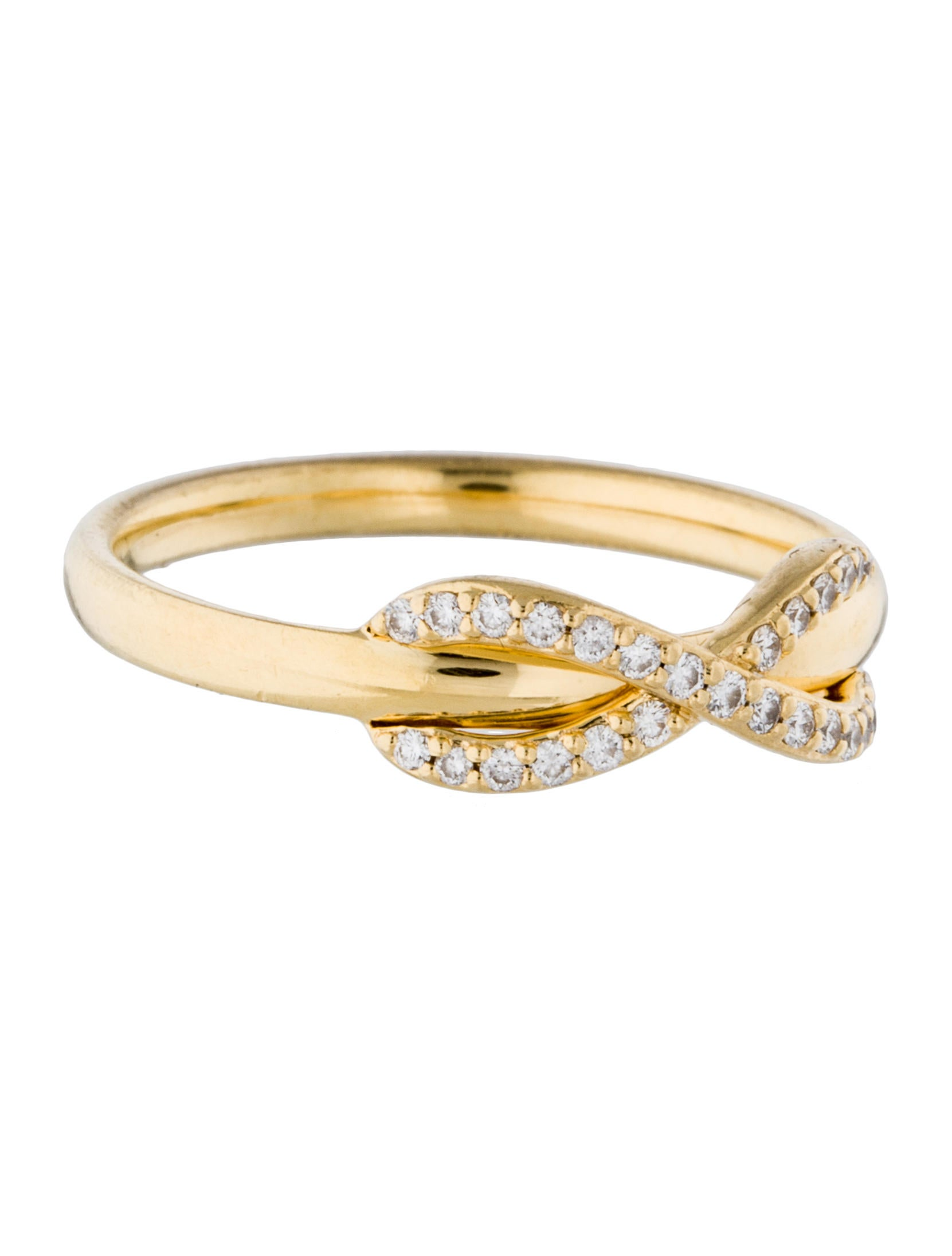 c0c2f35f7 Tiffany & Co. 18K Diamond Infinity Ring - Rings - TIF45536 | The ...