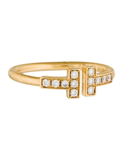 b1b80a197 Tiffany & Co. 18K Diamond Tiffany T Wire Ring - Rings - TIF45672 ...