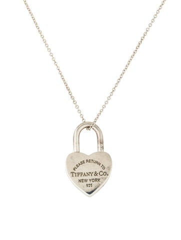 Tiffany co heart lock pendant necklace necklaces tif45851 heart lock pendant necklace aloadofball Choice Image