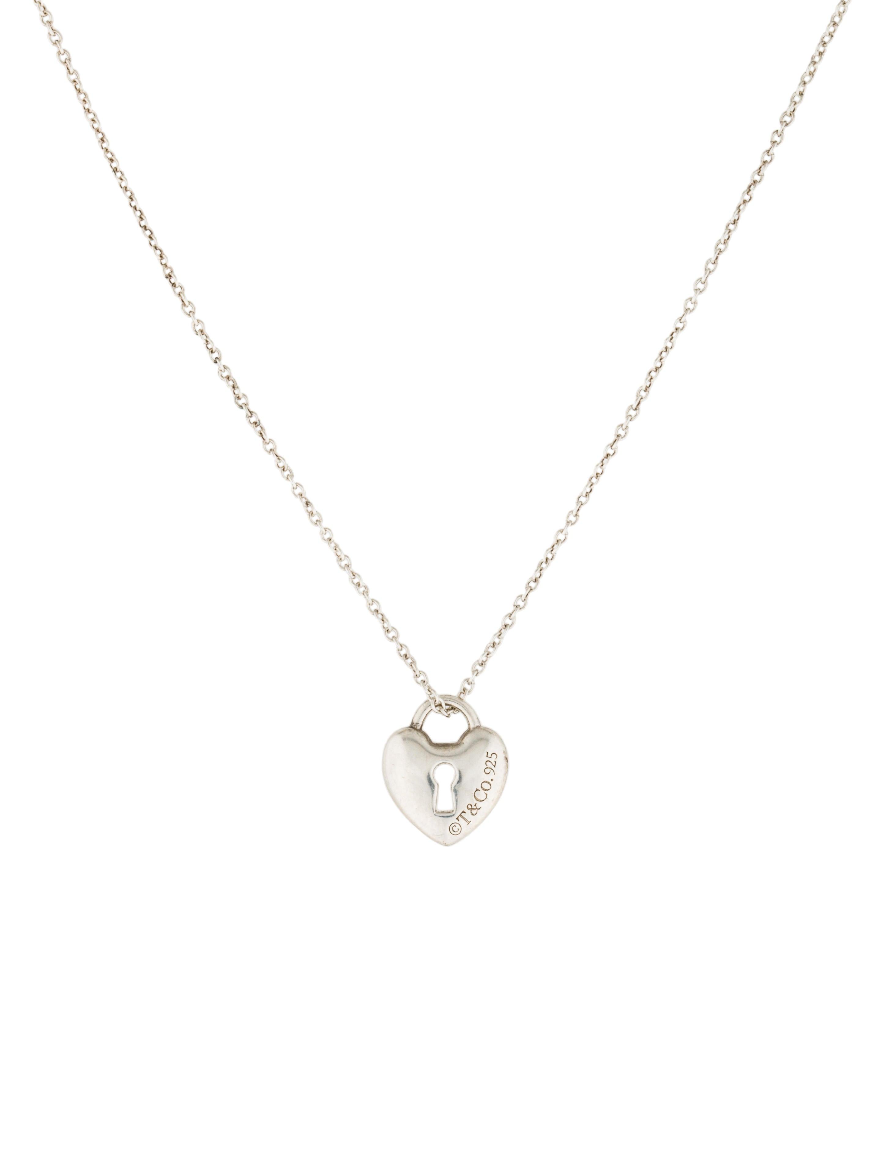 Tiffany co mini heart lock pendant necklace necklaces mini heart lock pendant necklace aloadofball Images