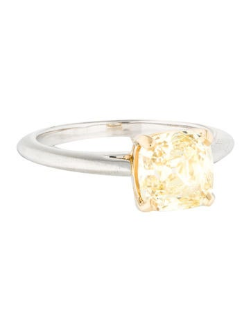 Tiffany & Co. 2.12 ct Yellow Diamond Engagement Ring