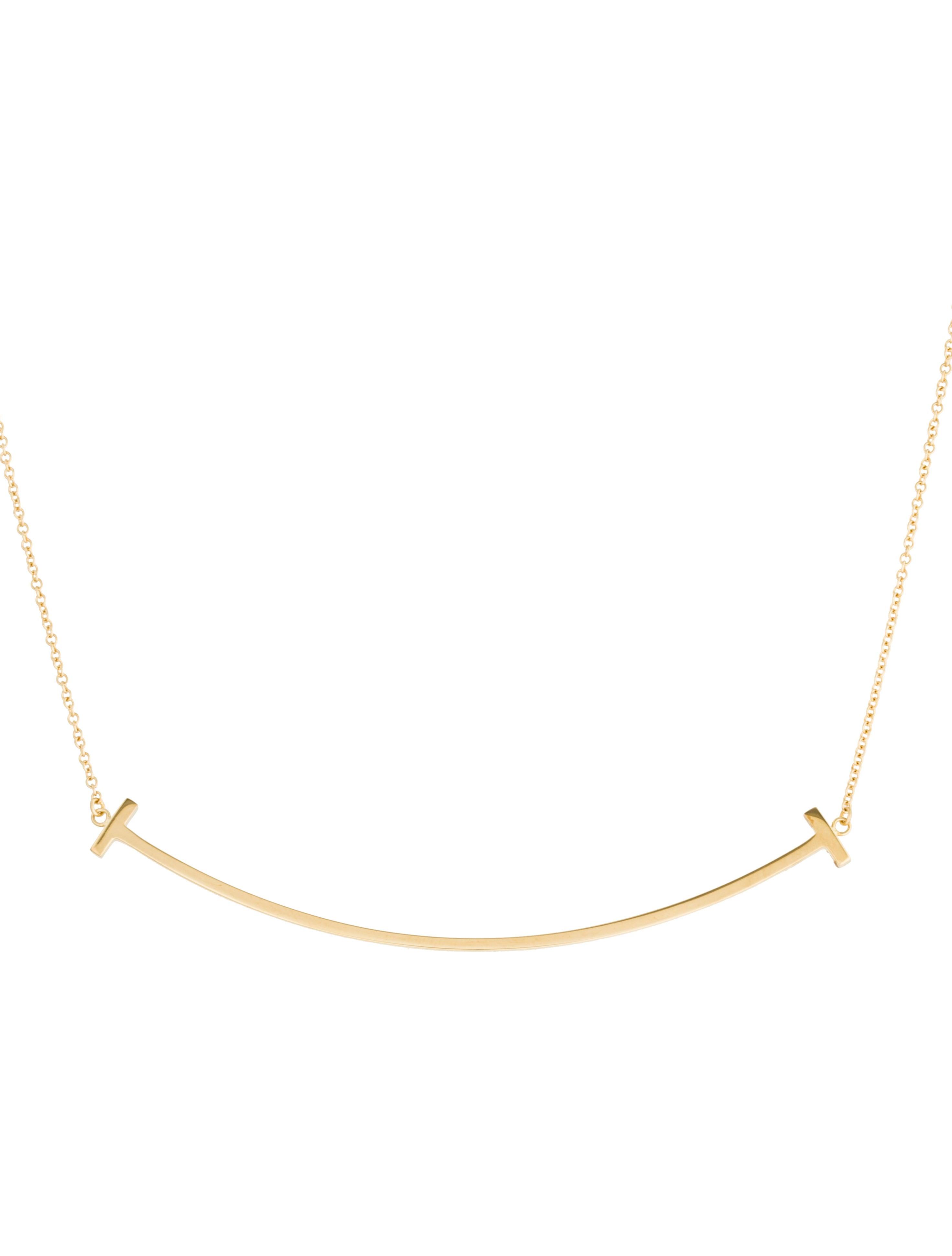 b9c7c2bad Tiffany & Co. 18K Tiffany T Smile Pendant Necklace - Necklaces ...