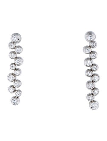 Tiffany & Co. Platinum Diamond Bubble Drop Earrings