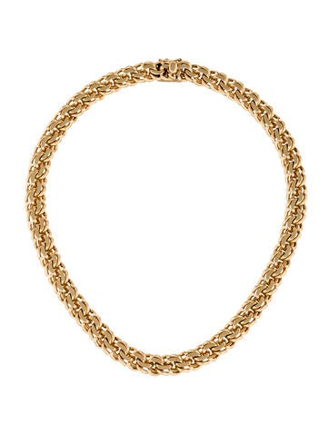 Tiffany & Co. 14K Spiral Link Collar Necklace
