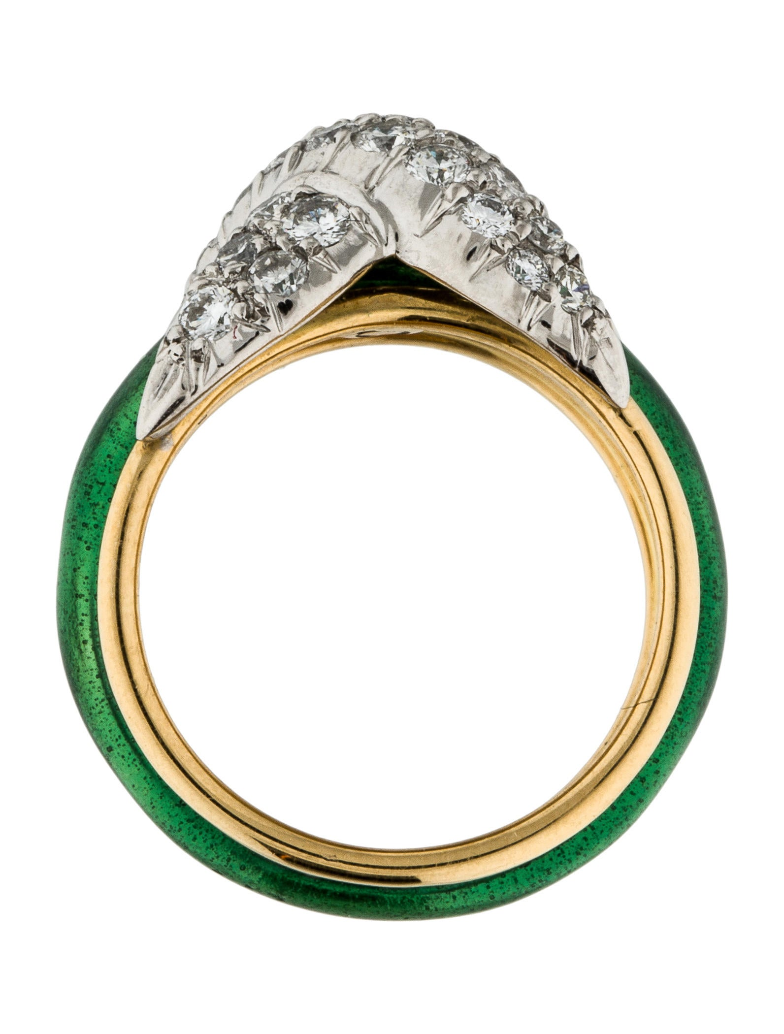 Tiffany Amp Co 18k Diamond Amp Enamel X Ring Rings