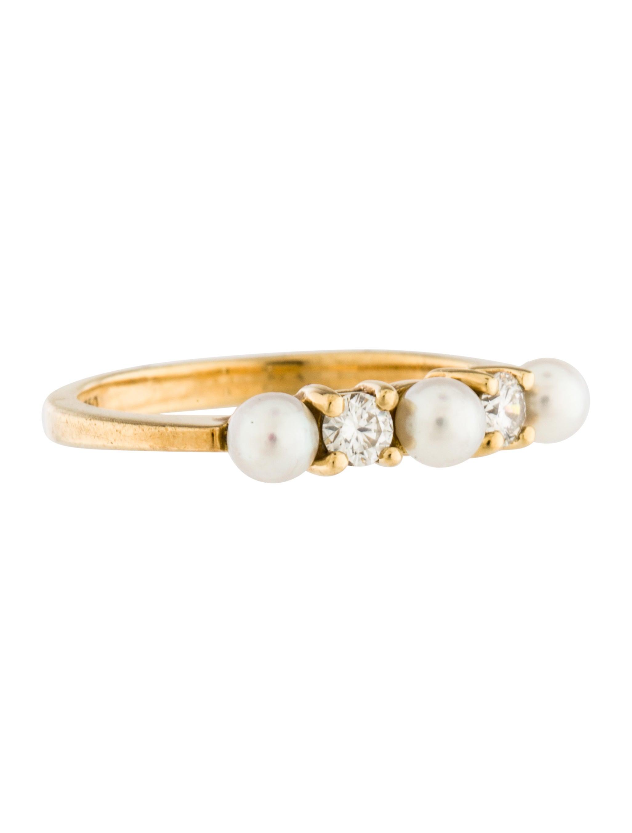 tiffany co pearl diamond band ring rings tif47729. Black Bedroom Furniture Sets. Home Design Ideas