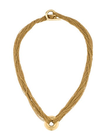 Tiffany & Co. 18K Circle Mesh Necklace