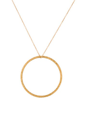 Tiffany & Co. 18K Hammered Pendant Necklace