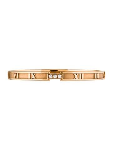 Tiffany & Co. 18K Diamond Atlas Bangle Bracelet