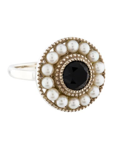 Tiffany Amp Co Pearl Amp Onyx Ring Rings Tif48761 The