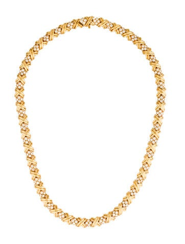 Tiffany & Co. Diamond X Collar Necklace