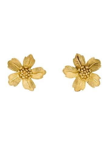 Tiffany & Co. 18K Flower Earrings
