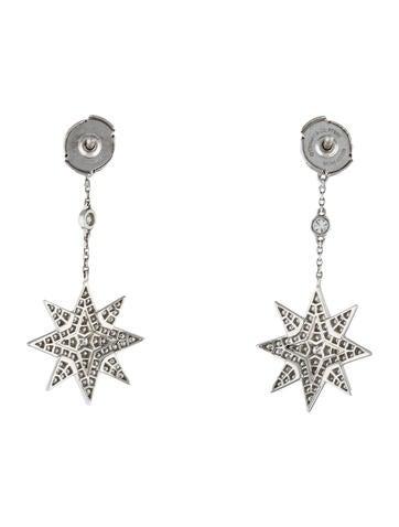 Diamond Star Drop Earrings