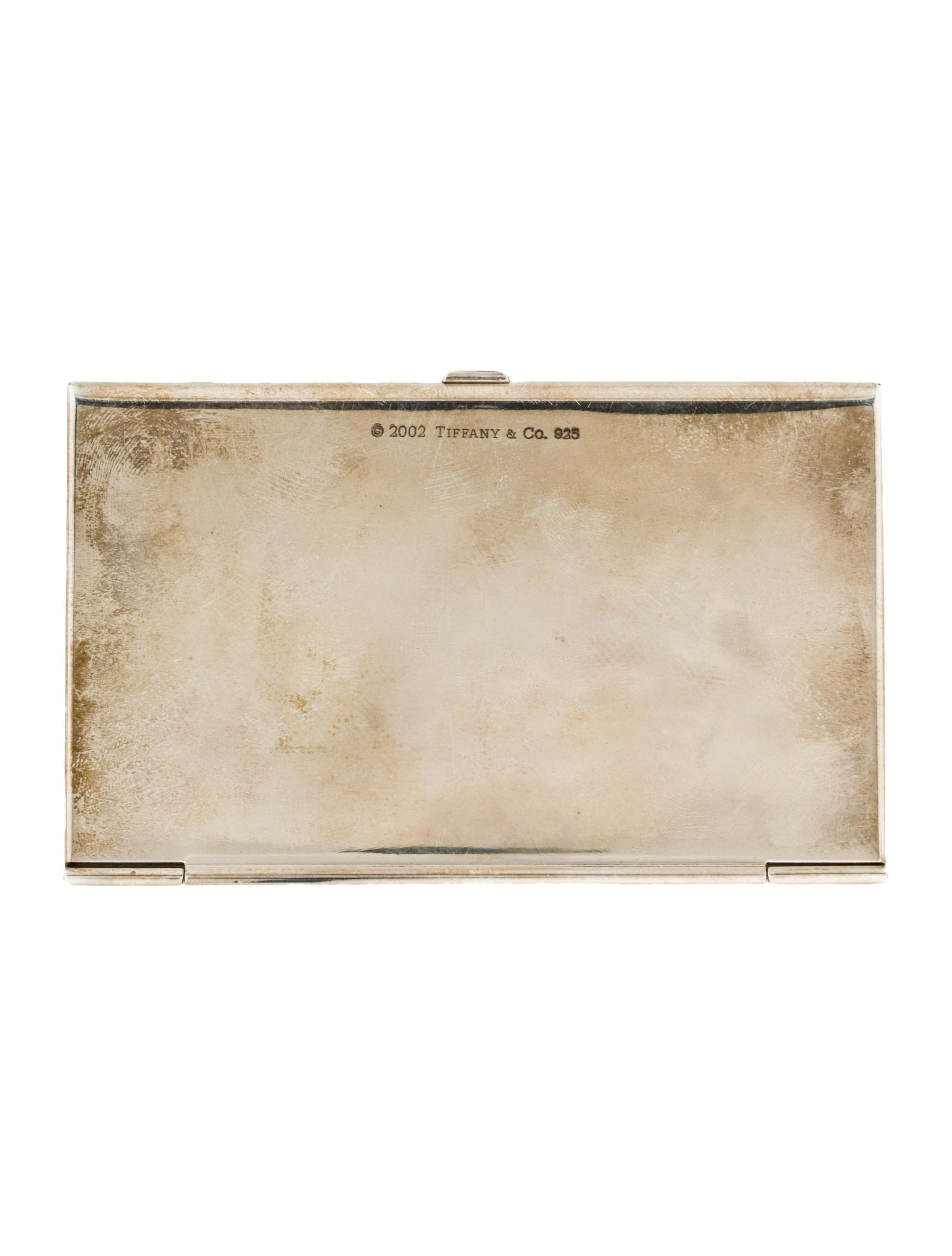 Tiffany co silver plate business card holder decor and silver plate business card holder reheart Images