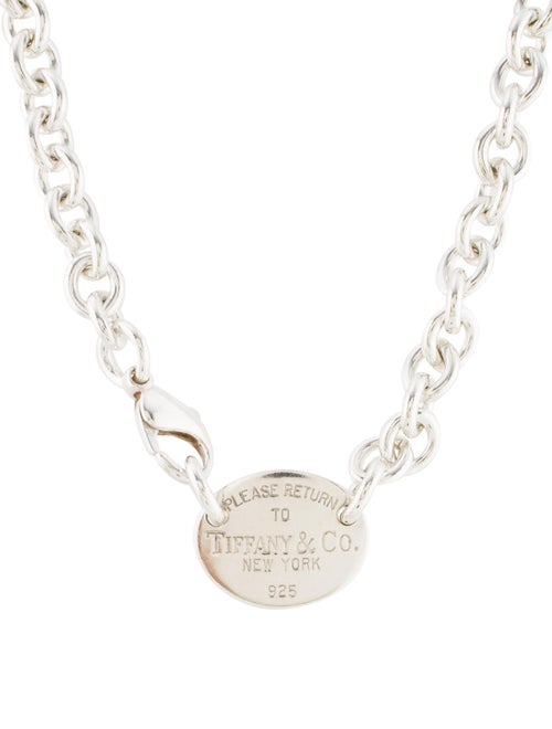 7d44d7a62 Tiffany & Co. Return To Tiffany Oval Tag Necklace - Necklaces ...